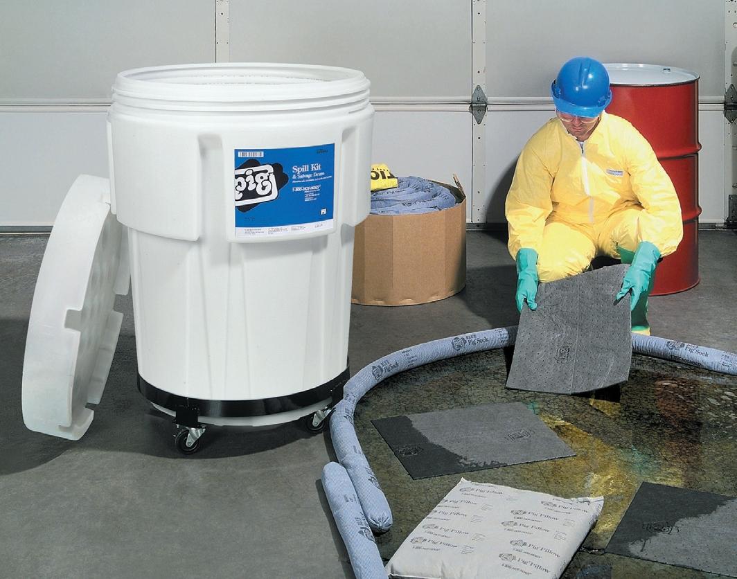 Kit assorbenti universali per oli solventi refrigeranti for Vassoi assorbenti